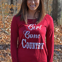 """Girl Gone Country"" Long Sleeve Tee"