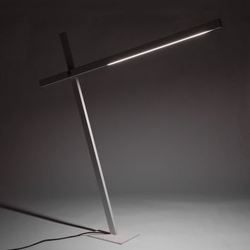Industrial Modern White Cantilevered Floor Lamp