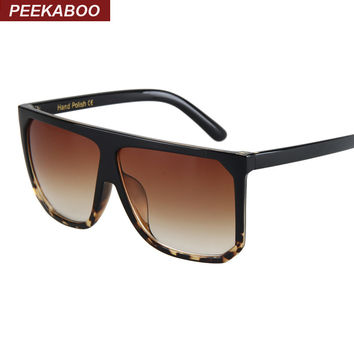 Peekaboo Black clear oversized square sunglasses women gradient 2016 summer style classic women sun glasses big square uv400