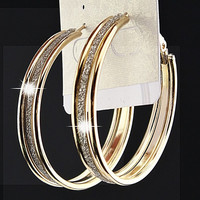 Hot Selling New Arrivals Charms Gold and Silver Frosted Women Big Hoop Earrings Wedding Bridal Fashion Jewelry C1059 = 1932072644