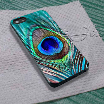 Peacock Feather For - iPhone 4 4S iPhone 5 5S 5C and Samsung Galaxy S3 S4 S5 Case