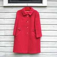 STOREWIDE SALE... 50s pink wool winter coat
