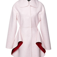 Two Tone Felt Coat With Petal Skirt by Giambattista Valli - Moda Operandi