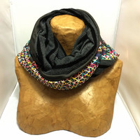 Colorful Knit Scarf - The Evil Hybrid Funfetti Cozy Infinity Scarf