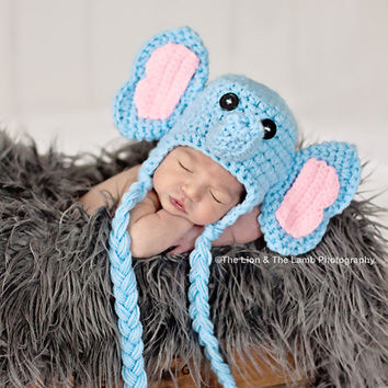 Crochet Newborn Elephant Hat  sc 1 st  wanelo.co & Shop Elephant Crochet Hat on Wanelo