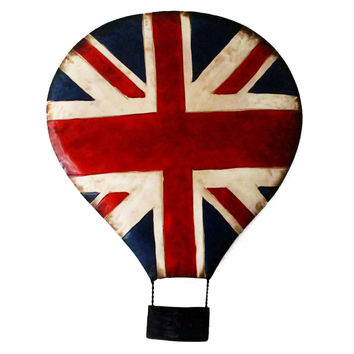 Mediterranean Decoration UK Flag Fire Balloon Wall Hanging