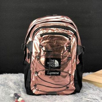 Supreme The North Face Metallic Borealis Backpack Rose Gold