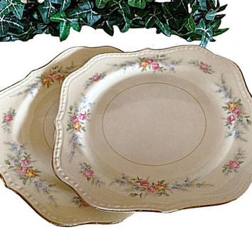 Homer Laughlin, Countess Salad Plate, Countess Pattern, Vintage Homer, Homer Georgian, Georgian Plate, Homer Countess, Homer China, Eggshell