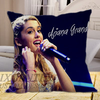 "Ariana Grande Live Concert on square pillow cover 16"" 18"" 20"""