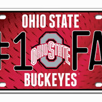 Ohio State Buckeyes License Plate - #1 Fan