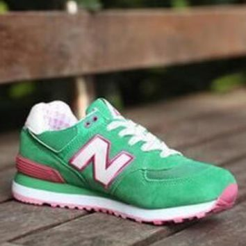 New Balance 2018 new men and women trend wild couple models sports shoes green