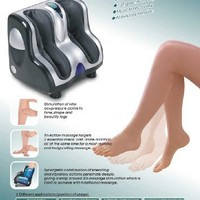 Irest foot and Calf Shiatsu Reflexology massager - squeezee and vibration