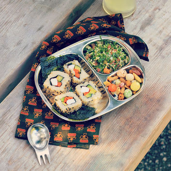 Stainless Steel Picnic + Camping Trays ~ Set of 4