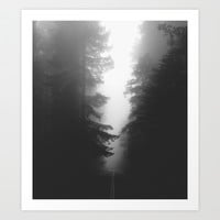 Foggy Road Art Print by Kevin Russ
