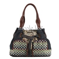 SUZY'S NORELLE MULTIPRINTS AND FABRICS HOBO - NICOLE LEE