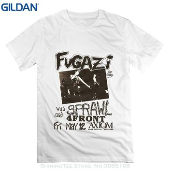 FUGAZI Punk Rock Band Music Men Adult Slim Fit T Shirt Mens Fugazi Guy Ian Joe Brendan T-shirt