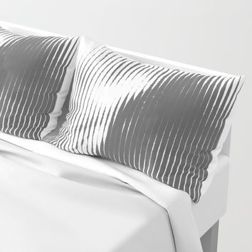 Grays Pillow Sham by duckyb