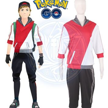 Pocket Monster Game  Go Male Trainer Avatar Anime Cosplay CostumeKawaii Pokemon go  AT_89_9