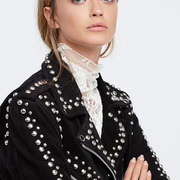 Free People Studded Easy Rider Jacket