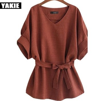 Summer Tops 2017 Kimono Vintage Plus Size 4XL5Xl Women Blouses Bat sleeve Casual Ladies chiffon Shirt Loose Blusas Camisa Mujer