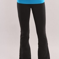 Bahama Blue Folded Waistband Yoga Pants