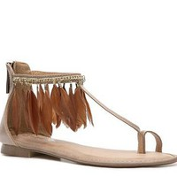 2 Lips Too Too Parrot Feather Sandal