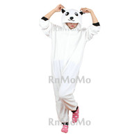 KIGURUMI Cosplay Romper Charactor animal Hooded PJS Pajamas Pyjamas Xmas gift Adult  Costume sloth  outfit Sleepwear-polar bear