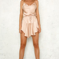 Too Fast For Love Dress Champagne