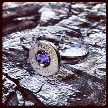 Simplistic Bullet Ring - Purple