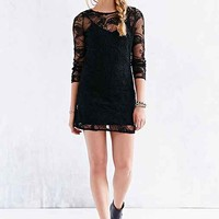 Ladakh Cornelli Lace Long-Sleeve Shift Dress-