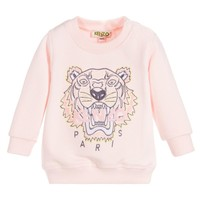 Baby Girls Pink Tiger Sweatshirt