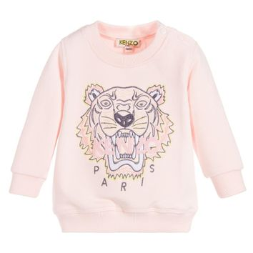 Girls Pink Tiger Sweatshirt