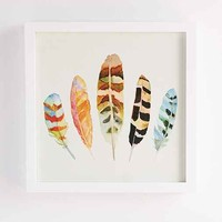 Sarah B. Martinez Feathers #5 Framed Art- White One