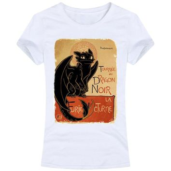 Le Dragon Noir Women Tops Tees T Shirts Toothless How To Train Your Dragon Httyd Le Chat Noir Youkaiyume Casual Novelty funny