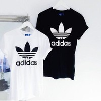 adidas Originals Black T-Shirt Dress With Trefoil Logo
