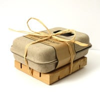 Soap Gift Set, Soap and Cedar Soap Dish, Eco Friendly Gift Set, All Natural Soap, Handmade Soap