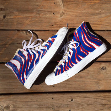 Buffalo Bills Zubaz Print Custom Converse