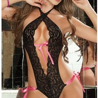 Hot Deal Cute On Sale Sexy Lace One-piece Exotic Lingerie [6595494403]