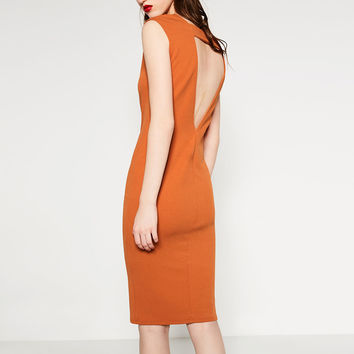DRESS WITH LOW-CUT BACK