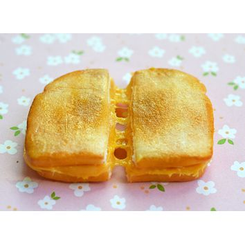 Grilled Cheese Sandwich Miniature Food Magnet Polymer Clay