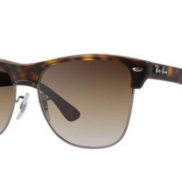 Kalete RAY-BAN CLUBMASTER OVERSIZED Sunglasses RB4175 (878/51) Tortoise/Brown RRP-?135