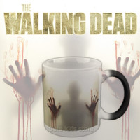 Drop shipping!The walking dead Mug color changing Heat Sensitive  Ceramic 11oz coffee cup surprice gift for boy friend
