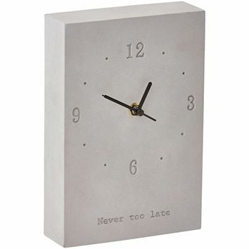 Skyline Cement Decorative Wall Clock Battery Operated For Bathroom or Kitchen