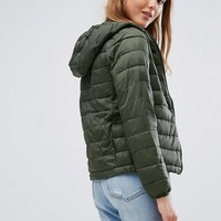 Pull&Bear Padded Jacket With Hood at asos.com