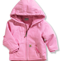 Pink Redwood Sherpa Hooded Jacket - Infant & Toddler | zulily