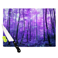 "Iris Lehnhardt ""Magic Woods"" Purple Forest Cutting Board"