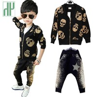 Baby boy clothes Fashion Skull Heads Clothing Set