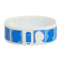 Doctor Who 50th Anniversary Silhouette Rubber Bracelet