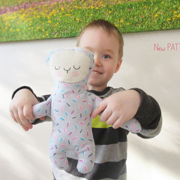 BUNNY Sewing pattern, Boy Soft toy, Rabbit Doll instructions, PDF Stuffed toy pattern.