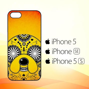 adventure time sugar skull orange V1523  iPhone 5|5S|SE Case